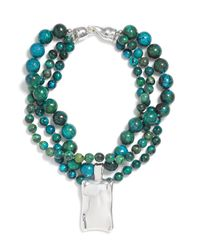 Simon Sebbag | Blue Chrysocolla Triple Strand Necklace | Lyst
