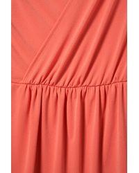 TOPSHOP - Pink Moss Crepe Drape Dress - Lyst