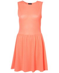TOPSHOP | Pink Self Stripe Tee Dress | Lyst