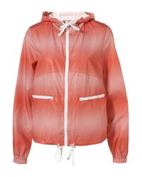 TOPSHOP | Red Ombre Spot Pac-A-Parka | Lyst