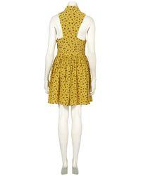 TOPSHOP | Yellow Daisy Dogs Shirtdress | Lyst