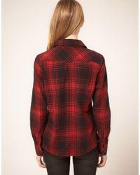 Wrangler - Red Lumberjack Shirt - Lyst