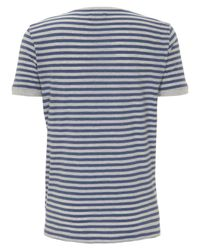 Folk | Blue Navy and Marl Grey Stripe T-shirt for Men | Lyst