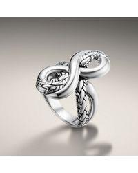 John Hardy | Metallic Infinity Ring | Lyst