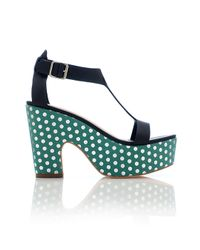 Loeffler Randall | Black Chloe Platform Sandal | Lyst