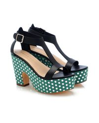 Loeffler Randall - Black Chloe Platform Sandal - Lyst