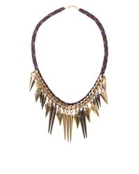ASOS | Multicolor Multi Arrow Spike Necklace | Lyst