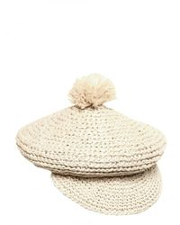 Burberry Prorsum | White Raffia Bobble Hat for Men | Lyst