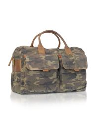 Fossil - Green Wagner - Camouflage Canvas Duffle Bag for Men - Lyst