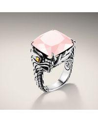 John Hardy | Metallic Square Ring | Lyst