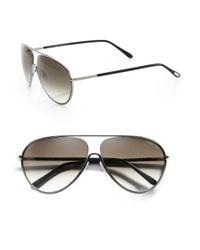 Tom Ford - Metallic Floating Lens Metal Aviator Sunglasses - Lyst