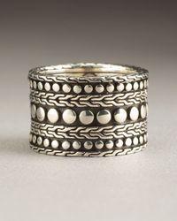 John Hardy | Metallic Dot Nuansa Ring for Men | Lyst