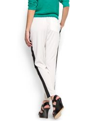 Mango | White Loose fit Trouser | Lyst