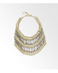 Tory Burch - Metallic Chainmaille Necklace - Lyst