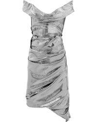 Vivienne Westwood Red Label | Asymmetric Metallic Jersey Dress | Lyst