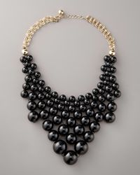 kate spade new york | Black Dotz Bib Necklace | Lyst