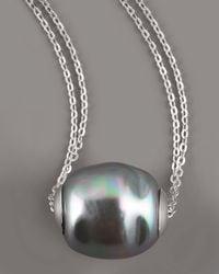Majorica - Gray Baroque Pearl Pendant Necklace - Lyst