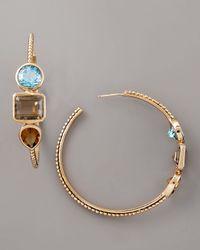Stephen Dweck | Multicolor Three-stone Beaded Hoop Earrings | Lyst