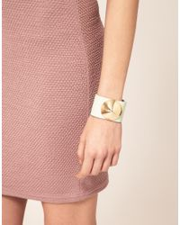 ASOS Collection | Pink Asos Leather Studded Cuff | Lyst