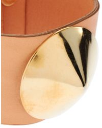 ASOS Collection - Pink Asos Leather Studded Cuff - Lyst