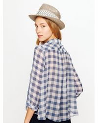 c8b2a7c6 Lyst - Free People Sweet Spring Gingham Buttondown in Blue