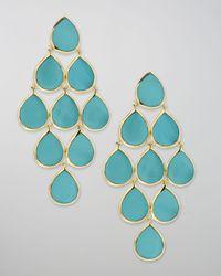 Ippolita | Metallic Turquoise Cascade Earrings | Lyst