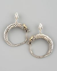 John Hardy - Metallic Naga Dragon Hoop Earrings - Lyst