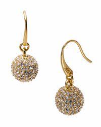 Michael Kors Metallic Golden Fireball Drop Earrings