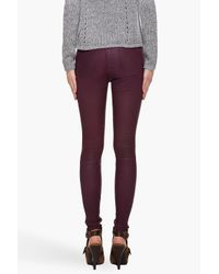 Current/Elliott | Purple Leather Pant  | Lyst