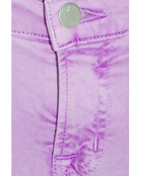 J Brand - Purple 811 Mid-rise Cropped Skinny Jeans - Lyst