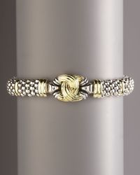 Lagos - Metallic Oval Knot Rope Bracelet - Lyst