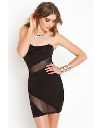 Nasty Gal | Black Slasher Mesh Dress | Lyst