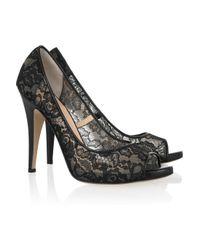 Bionda Castana Black Melody Peep Toe Shoe
