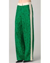 By Malene Birger | Green Hazia Print Tuxedo Pants | Lyst