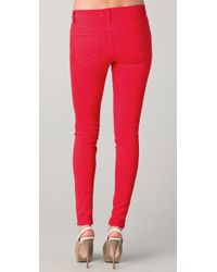 J Brand - Red Zoey Super Skinny Jeans - Lyst