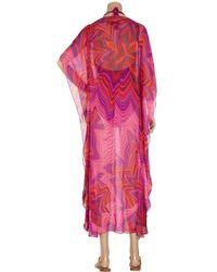 Melissa Odabash - Pink Coleen Printed Silk Kaftan - Lyst