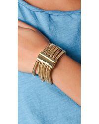 Belle Noel - Metallic Six Strand Snake Chain Bracelet - Lyst