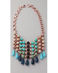 DANNIJO | Metallic Medine Bib Necklace | Lyst