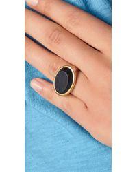 Elizabeth and James | Black Saddle Matte Onyx Ring | Lyst