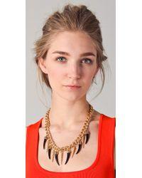 Fallon - Metallic Bijan Long Horn Necklace - Lyst