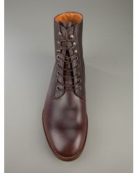 H by Hudson Brown Herman Laceup Boot for men