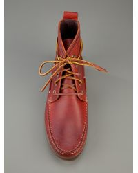 H by Hudson Red Mesquite High Top Boot for men