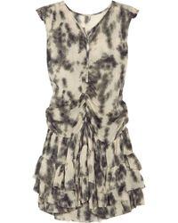 IRO Black Tiaz Ruffled Silk-blend Dress
