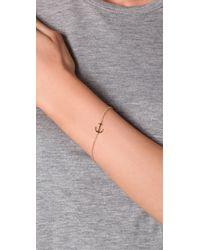 Jennifer Zeuner - Metallic Mini Anchor Charm Bracelet - Lyst