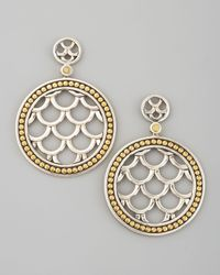 John Hardy | Metallic Round Drop Earrings, Small | Lyst