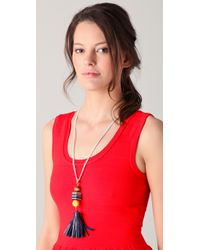 Juicy Couture Blue Tassel Necklace