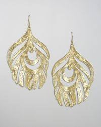 Kendra Scott - Metallic Karina Feather Earrings - Lyst