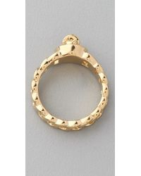 Marc By Marc Jacobs | Metallic Small Turnlock Katie Ring | Lyst