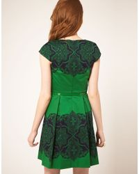 Oasis Green Oasis Placement Lace Dress