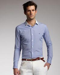 Polo Ralph Lauren Blue Button Down Collar Gingham Shirt for men